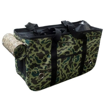 Large Deluxe Camouflage Pet Carrier Bag