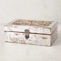 Carved Wood Jewelry Box by Anthropologie