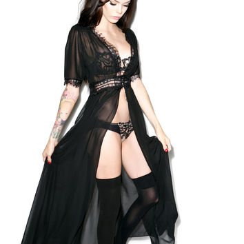 Widow Calypso Chiffon Over Dress Black