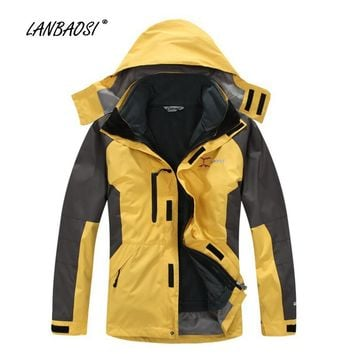 Windbreaker Jackets with Thermal Polar Fleece Liner for Men Outdoor Sports Hiking Climbing Camping Skiing Windproof Winter Coat
