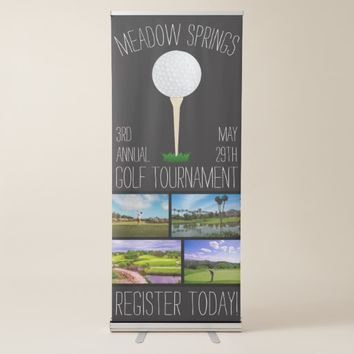 Personalized Golf Tournament Golf Course Banner Ad