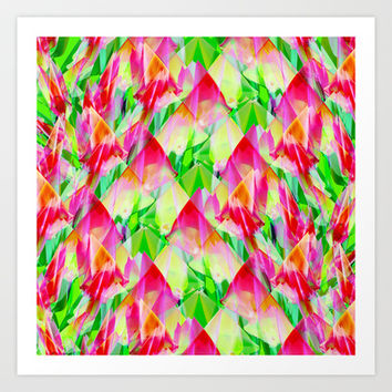 Tulip Fields #119 Art Print by Gréta Thórsdóttir  #floral #tulips #pattern #abstract #Genus #Tulipa #Liliaceae