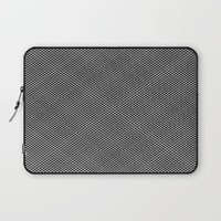 plaid hypnosis Laptop Sleeve by RichCaspian