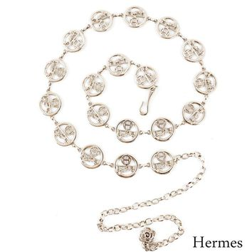 Hermes Wild Small Belt Decorative Chain Belt Silver