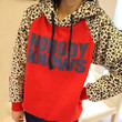 SUNFASHION Women's Fashion Hot Top Pullover NOBODY KNOWS Print Hooded Leopard Sweatshirt S-XL Outerwear Coat9226 = 1929910660