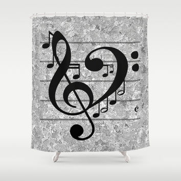 Love Music Shower Curtain by RichCaspian | Society6