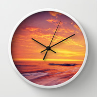 Endless Ocean Contains Everything. Wall Clock by Nirvana.K | Society6
