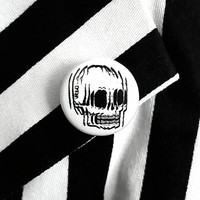 Split Personality Skull Button By VOIDEaD