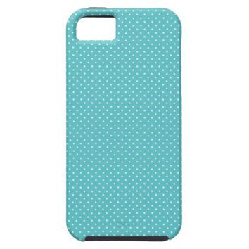 Polka dot pin dots girly chic tiffany blue pattern iphone 5 cases from Zazzle.com