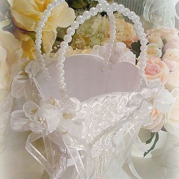 Bridal Elegance Flower Girl Basket