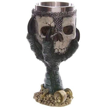 Creative Goblet Cup Skull Shape Design Stainless Steel 200ml Cup