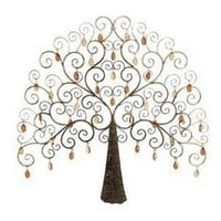 Metal /Crystal Tree Decor Low Priced Wall Decor by Benzara