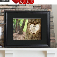 Tree of Love Print with Wood Frame, Wedding Gift, Anniversary Gift, Engagement Gift, Bridal Shower Gift, Reception Decor, Love Tree Gift
