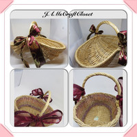 Vintage Basket-Natural Basket-Unique Basket-Gathering Basket-Woven Basket-Gift Basket-Centerpiece-Home Decor-Table Decor-Storage-Wedding