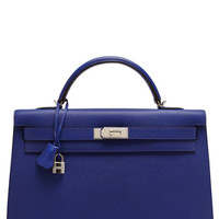 40Cm Electric Blue Epsom Leather Sellier Kelly by Heritage Auctions Special Collections for Preorder on Moda Operandi
