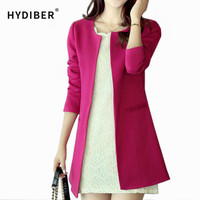 2016 Women Long Blazer Jackets 4 Colors New Fashion Solid Casual Plus Size Coat  Blazer Feminino