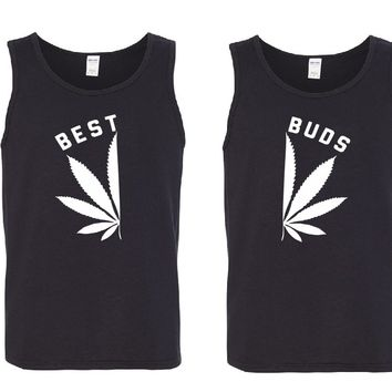 BEST BUDS Men's Tank Tops + Your NAMES on the back or another text