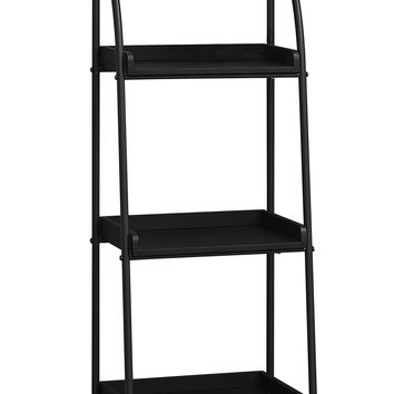 "Bookcase - 48""H / Black / Black Metal"