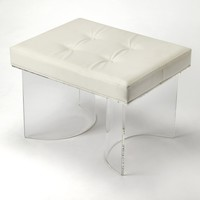Ellipse Clear Acrylic Vanity Stool