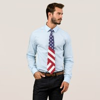 THE AMERICAN FLAG - UNITED STATES OF AMERICA TIE