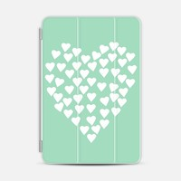 Hearts Heart White on Mint iPad Mini 1/2/3 case by Project M | Casetify