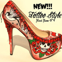 NEW 'Tattoo style' Zombie Flesh Heels
