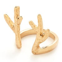 ModCloth Rustic Antler to Your Questions Ring