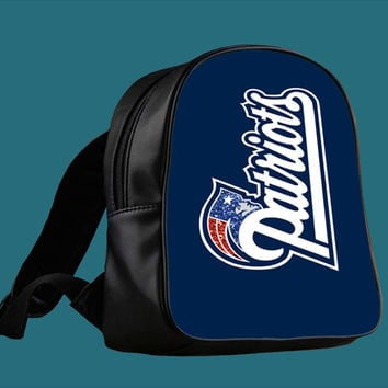 New England Patriots nfl red blue sparkle for Backpack / Custom Bag / School Bag / Children Bag / Custom School Bag *
