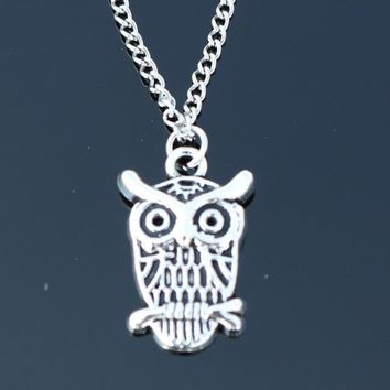 N2037 Owl Pendant Necklaces Bijoux Collares For Women Men Animal Necklace Chain Colar Fashion Jewelry