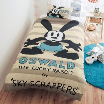New Disney Oswald the Lucky Rabbit Comforter Pillow cover set Japan limited
