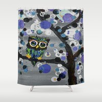 ::Gemmy Owl Weather's the Storm:: Shower Curtain by :: GaleStorm Artworks ::
