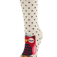 Mother and Baby Owl Sock | Multi | Accessorize