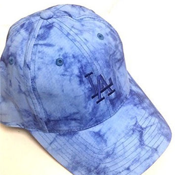 Los Angeles Dodgers MLB Ladies Baseball Hat Women's Blue Tie Dye Logo Adjustable