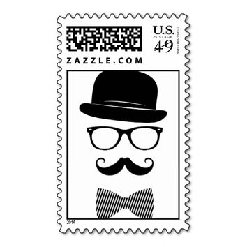 Classy Hipster Postage Stamps