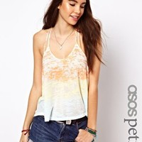 ASOS PETITE Exclusive Cami Crop Top In Dip Dye at asos.com