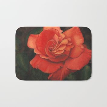 Rose flower Bath Mat by Savousepate