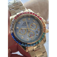 ROLEX Tide brand couple color diamond diamond waterproof quartz watch #4