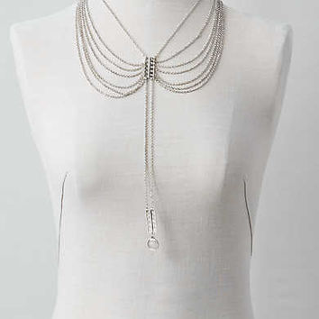AEO Multi-Draped Chain Necklace , Silver