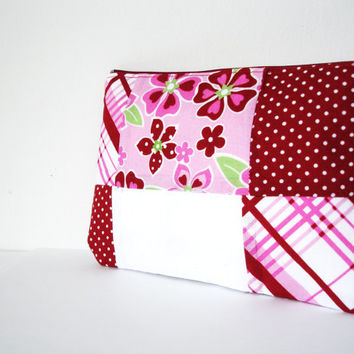 Red Pouch,Cosmetic bag,Cosmetic Pouch