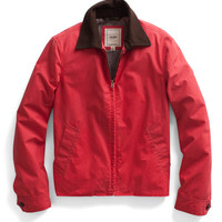 Red Waxed Driving Jacket