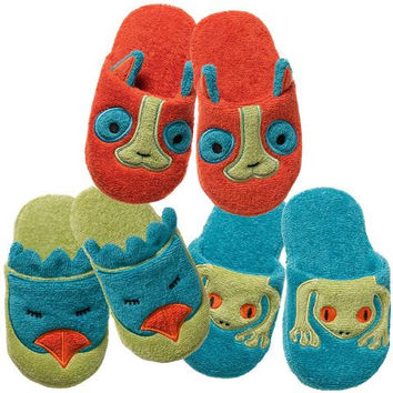 Rainforest: Organic Cotton Non-Slip Toddler Slippers