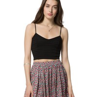 Aeropostale  Womens Eyelet Bustier Top - Black, X-Small