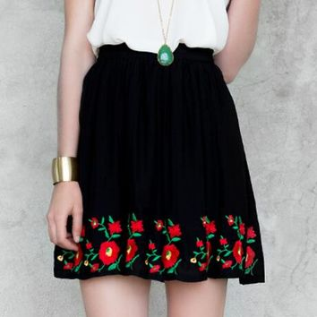 San Miguel Embroidered Skirt