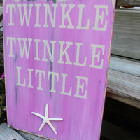 Beach Sign Twinkle Twinkle Little Starfish by justbeachyshop