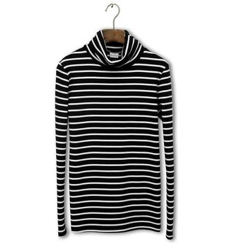 2018 New Game Of Throne Undertale Autumn And Winter Youth Wear High - Collar Cotton Stripe Tunic Men Women Long Sleeve T-shirt