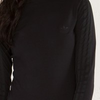 ADIDAS Turtleneck Long Sleeve Sweatshirt in Black