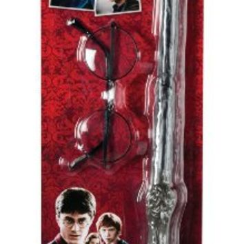 Harry Potter Wizard Accessory KIT Wand & Glasses NEW