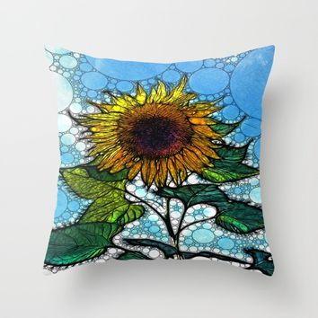 :: Sunshiny Day :: Throw Pillow by :: GaleStorm Artworks ::