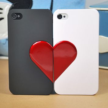 Love Heart Valentine's Day Gift Couple iPhone 4/4S Case