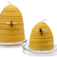 BEEHIVE CANDLES | Real Beeswax Honeycomb Candles Bring Natural, Sweet Honey Scent to Your Home | UncommonGoods